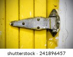 Dirty Old Closed Door Hinges.