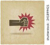 fist punch symbol old... | Shutterstock .eps vector #241899421