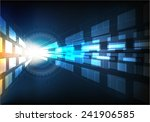 abstract computer technology... | Shutterstock .eps vector #241906585