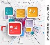 abstract 3d paper infographics | Shutterstock .eps vector #241907851