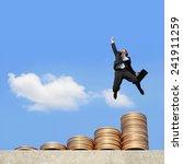business concept   business man ... | Shutterstock . vector #241911259