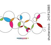 colorful overlapping circles... | Shutterstock .eps vector #241912885