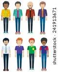 set of facless men in different ... | Shutterstock .eps vector #241913671