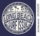 surf california typography  t... | Shutterstock .eps vector #241920295