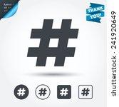 hashtag sign icon. social media ...   Shutterstock .eps vector #241920649