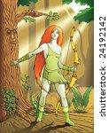 elf female archer  a character... | Shutterstock . vector #24192142