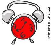 red color clock | Shutterstock . vector #2419215