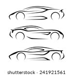 set of modern car silhouettes | Shutterstock . vector #241921561