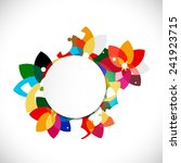 abstract colorful floral shape... | Shutterstock .eps vector #241923715