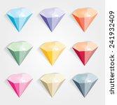 colorful gems  diamonds ...