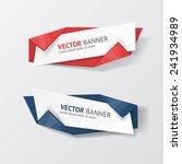 vector infographic origami... | Shutterstock .eps vector #241934989