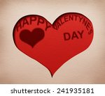 two hearts cutout in paper with ... | Shutterstock . vector #241935181