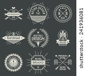 retro design insignias... | Shutterstock .eps vector #241936081