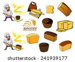 variety sorts of bread and... | Shutterstock .eps vector #241939177