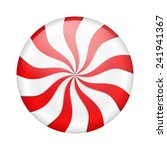 round peppermint candy on white ... | Shutterstock .eps vector #241941367