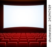 a movie theater stage with red... | Shutterstock .eps vector #241947439