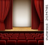 a theater stage with red... | Shutterstock .eps vector #241947481