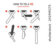 how to tie a four in hand tie... | Shutterstock .eps vector #241949275