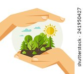 environmental protection ... | Shutterstock .eps vector #241950427