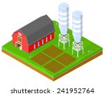 vector farming image isomeric...   Shutterstock .eps vector #241952764