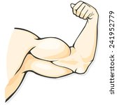 male biceps a vector... | Shutterstock .eps vector #241952779