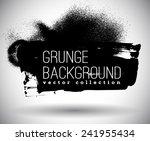 black ink vector spray stains | Shutterstock .eps vector #241955434