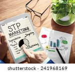 digital online stp marketing... | Shutterstock . vector #241968169