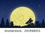 Big Yellow Moon Rising Above...