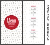 restaurant menu design. vector... | Shutterstock .eps vector #241970329
