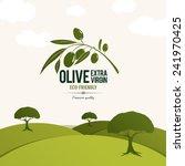 olive label  logo design. olive ... | Shutterstock .eps vector #241970425