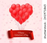 balloons in form of heart... | Shutterstock .eps vector #241971865