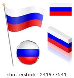 russian federation flag on a... | Shutterstock . vector #241977541