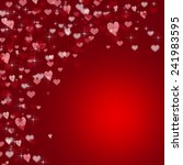 red valentines day background | Shutterstock . vector #241983595