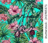 beautiful seamless floral... | Shutterstock .eps vector #241985371