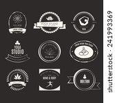 set of logos for yoga studio or ... | Shutterstock .eps vector #241993369