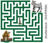 illustration labyrinth peg ... | Shutterstock .eps vector #241994581