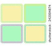 set of colourful design elemets ... | Shutterstock . vector #242004874