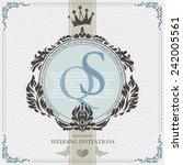 wedding card flat. cards... | Shutterstock .eps vector #242005561