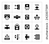 set icons of heating isolated... | Shutterstock .eps vector #242007589