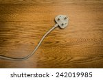 uk power plug  | Shutterstock . vector #242019985