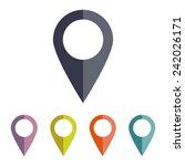 map pointer | Shutterstock . vector #242026171