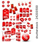 big set of vector price tags  ... | Shutterstock .eps vector #24203500