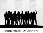 group of people | Shutterstock .eps vector #242044471