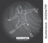 badminton background design.... | Shutterstock .eps vector #242046799