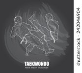 taekwondo background design.... | Shutterstock .eps vector #242046904