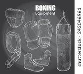illustration of boxing...   Shutterstock .eps vector #242046961