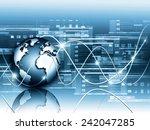 best internet concept of global ... | Shutterstock . vector #242047285