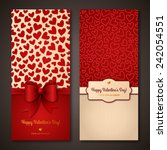 happy valentine's day greeting... | Shutterstock .eps vector #242054551
