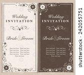 set of wedding invitation cards ... | Shutterstock .eps vector #242055751