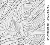 seamless stylized leaf pattern. ... | Shutterstock .eps vector #242055757